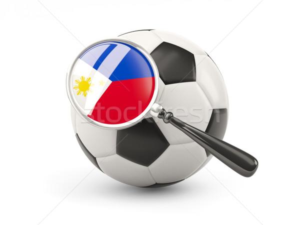 サッカー 拡大された フラグ フィリピン 孤立した 白 ストックフォト © MikhailMishchenko