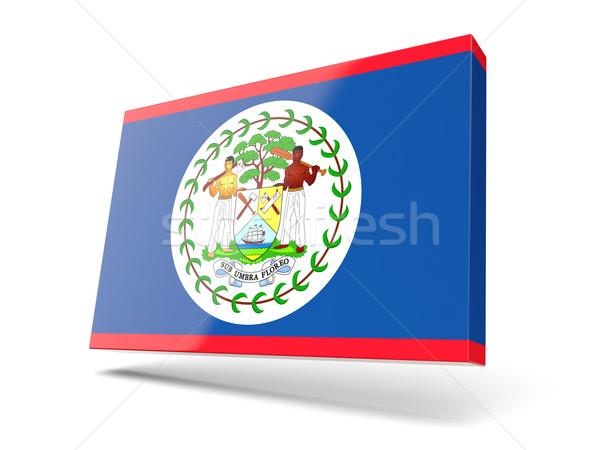 Stock fotó: Tér · ikon · zászló · Belize · izolált · fehér