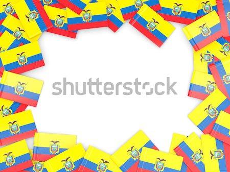 Frame bandiera Uganda isolato bianco Foto d'archivio © MikhailMishchenko
