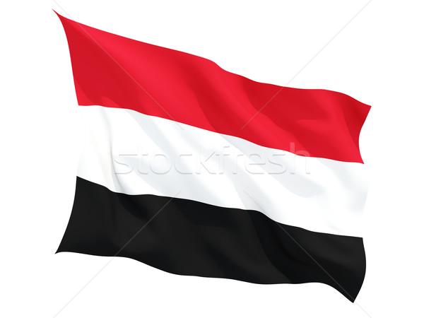 Waving flag of yemen Stock photo © MikhailMishchenko