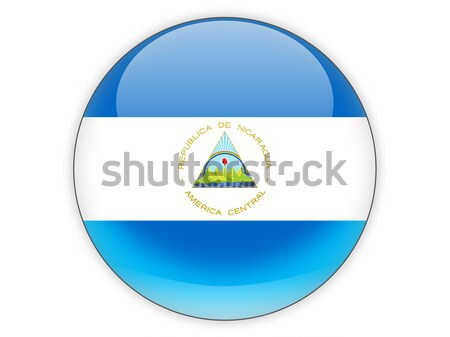 ícone bandeira Nicarágua assinar país Foto stock © MikhailMishchenko