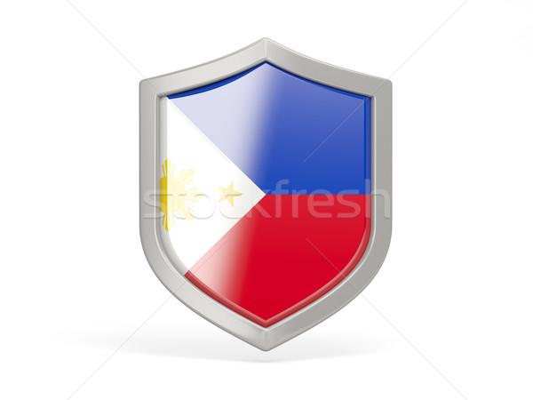 Shield icon with flag of philippines Stock photo © MikhailMishchenko
