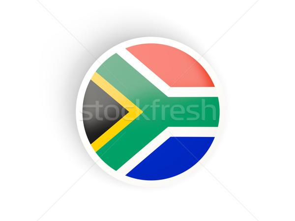 Etiket bayrak Güney Afrika yalıtılmış beyaz seyahat Stok fotoğraf © MikhailMishchenko