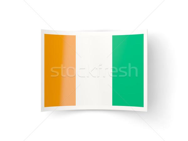 Bent icon with flag of cote d Ivoire Stock photo © MikhailMishchenko