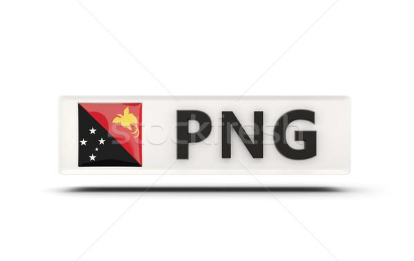 квадратный икона флаг Папуа-Новая Гвинея iso Код Сток-фото © MikhailMishchenko