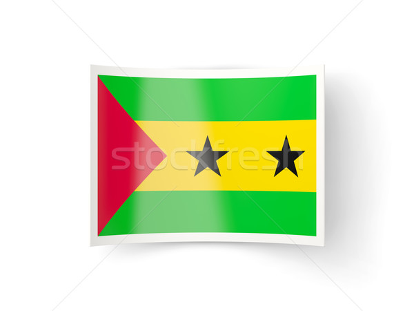 Bent icon with flag of sao tome and principe Stock photo © MikhailMishchenko