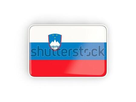 Tér ikon zászló Szlovénia árnyék felirat Stock fotó © MikhailMishchenko