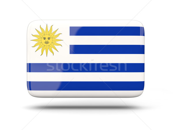 Praça ícone bandeira Uruguai sombra assinar Foto stock © MikhailMishchenko