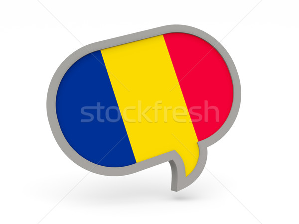 Chat icon with flag of chad Stock photo © MikhailMishchenko