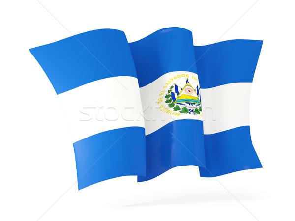 Bandeira El Salvador ilustração 3d isolado branco Foto stock © MikhailMishchenko