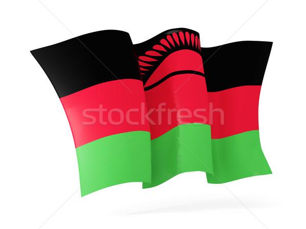 Vlag Malawi 3d illustration geïsoleerd witte Stockfoto © MikhailMishchenko