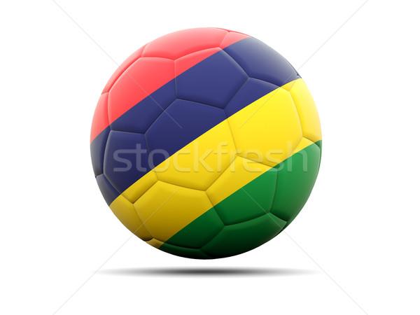 Fútbol bandera Mauricio 3d fútbol deporte Foto stock © MikhailMishchenko