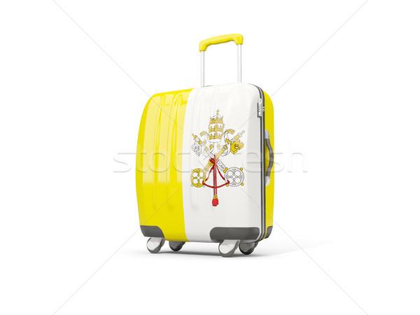 Камера флаг Ватикан город чемодан изолированный Сток-фото © MikhailMishchenko
