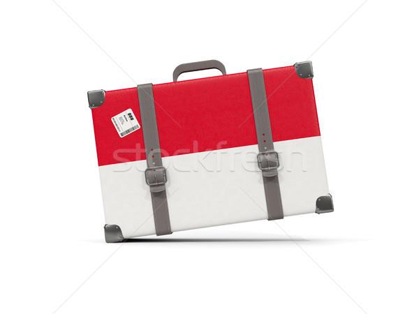 Камера флаг Монако чемодан изолированный белый Сток-фото © MikhailMishchenko