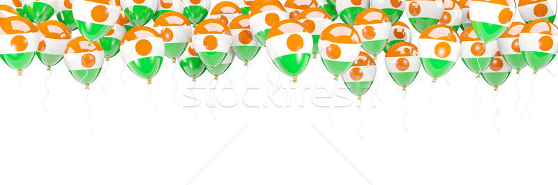 Globos marco bandera Níger aislado blanco Foto stock © MikhailMishchenko