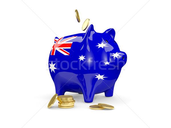 Сток-фото: жира · Piggy · Bank · Австралия · деньги · изолированный · белый