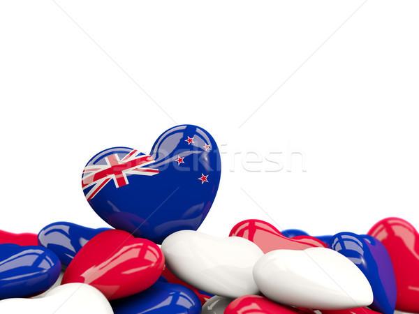 Szív zászló Új-Zéland felső szívek izolált Stock fotó © MikhailMishchenko