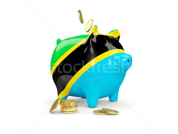 жира Piggy Bank Танзания деньги изолированный белый Сток-фото © MikhailMishchenko