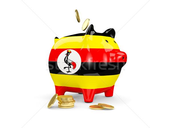 Grasa alcancía Uganda dinero aislado blanco Foto stock © MikhailMishchenko
