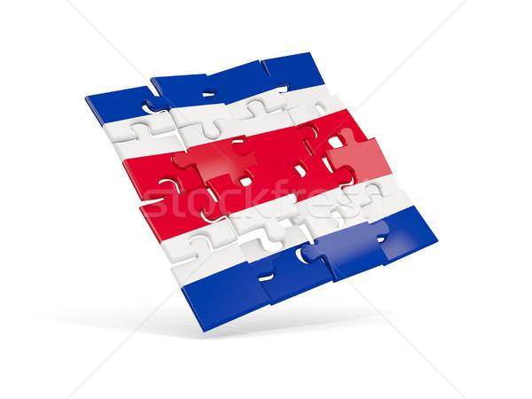 Puzzle flag of costa rica isolated on white Stock photo © MikhailMishchenko