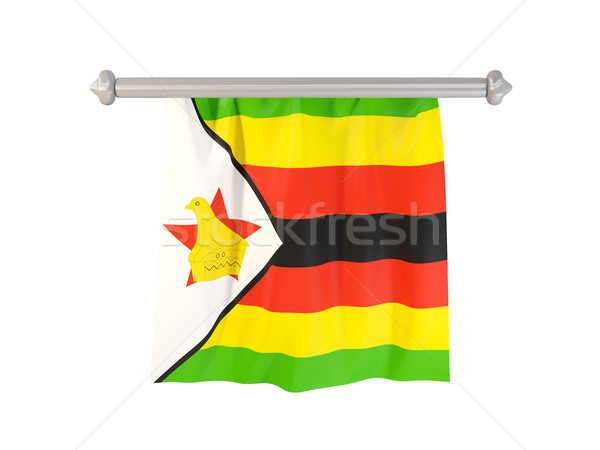 Pennant with flag of zimbabwe Stock photo © MikhailMishchenko