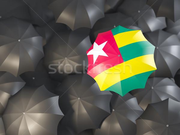 Ombrello bandiera Togo top nero ombrelli Foto d'archivio © MikhailMishchenko