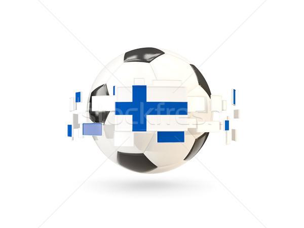 Futebol linha bandeiras bandeira Finlândia flutuante Foto stock © MikhailMishchenko