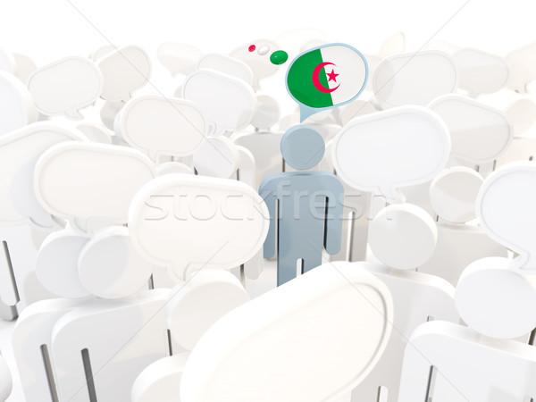 человека флаг Алжир толпа 3d иллюстрации знак Сток-фото © MikhailMishchenko