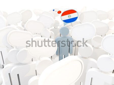Férfi zászló Ausztria tömeg 3d illusztráció felirat Stock fotó © MikhailMishchenko
