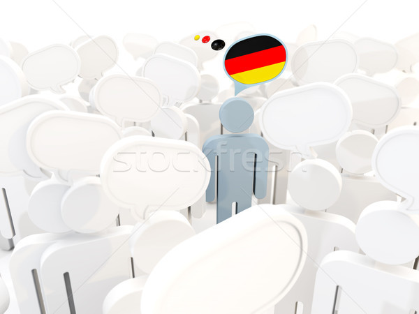 Man with flag of germany in a crowd Stock photo © MikhailMishchenko