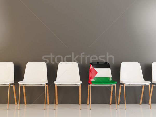 Chair with flag of palestinian territory Stock photo © MikhailMishchenko