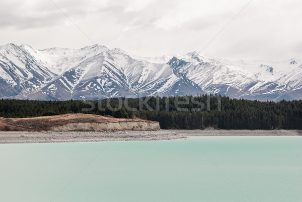 Alpine scenery at Tekapo lake. Hiking in New Zealand Stock photo © MikhailMishchenko