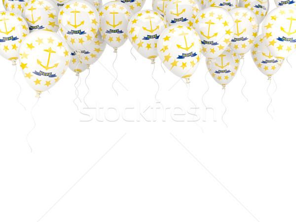 Balony ramki banderą Rhode Island Stany Zjednoczone miejscowy Zdjęcia stock © MikhailMishchenko