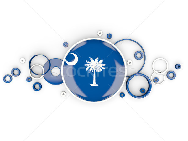 Round flag of south carolina with circles pattern. United states Stock photo © MikhailMishchenko