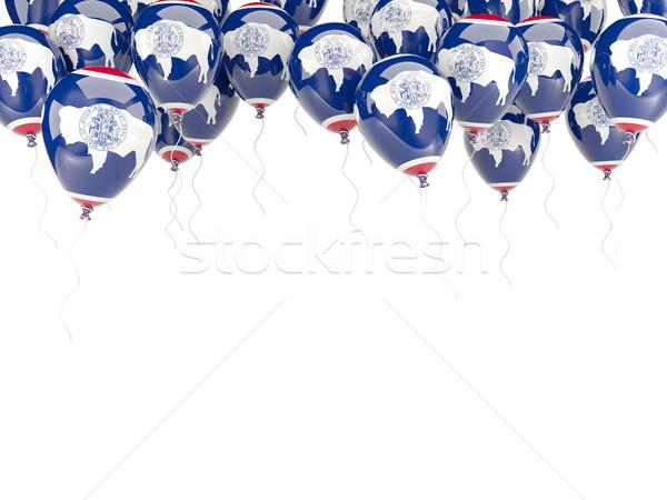 Globos marco bandera Wyoming Estados Unidos local Foto stock © MikhailMishchenko