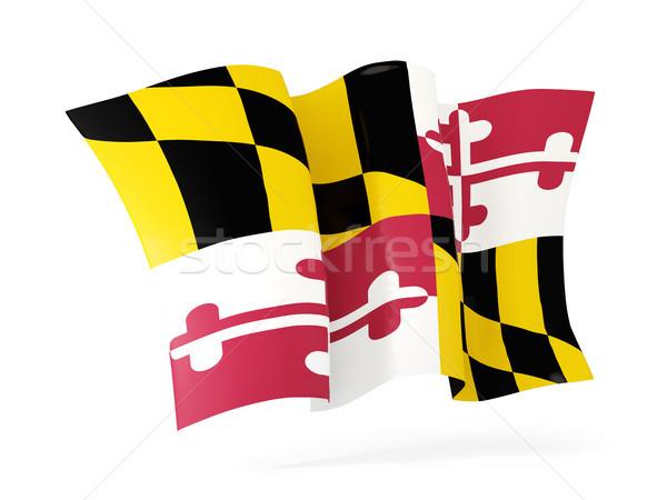 Maryland bayrak ikon Amerika Birleşik Devletleri Stok fotoğraf © MikhailMishchenko
