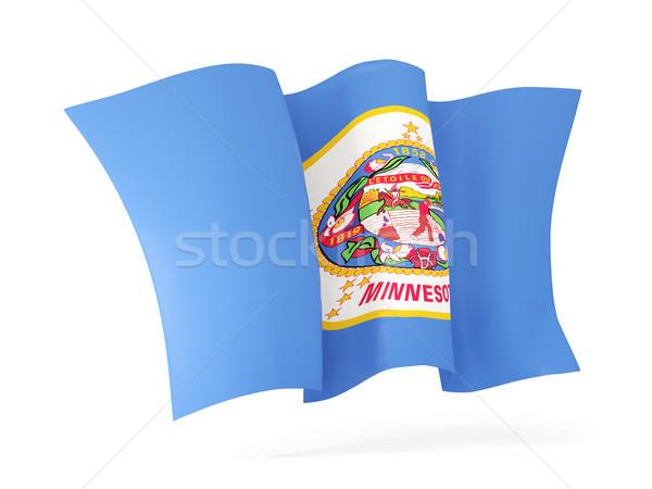 Миннесота флаг икона Соединенные Штаты Сток-фото © MikhailMishchenko
