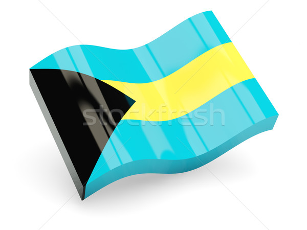 3d flag of Bahamas Stock photo © MikhailMishchenko