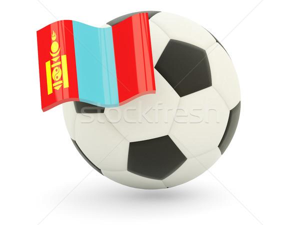 Futball zászló Mongólia izolált fehér sport Stock fotó © MikhailMishchenko