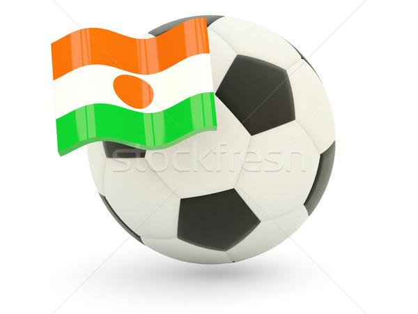 Fútbol bandera Níger aislado blanco deporte Foto stock © MikhailMishchenko
