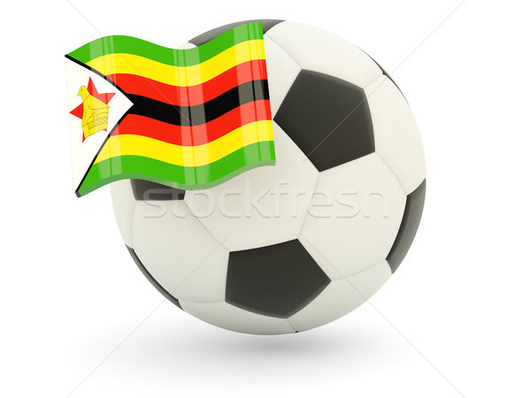 Football pavillon Zimbabwe isolé blanche sport Photo stock © MikhailMishchenko