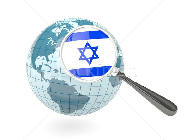 Photo stock: Pavillon · Israël · bleu · monde · isolé