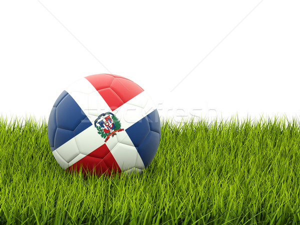 Football with flag of dominican republic Stock photo © MikhailMishchenko