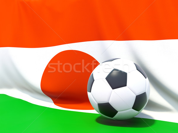 Bandera Níger fútbol equipo país Foto stock © MikhailMishchenko