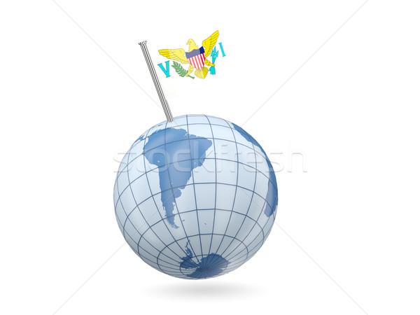 Сток-фото: мира · флаг · Виргинские · о-ва · синий · изолированный · белый