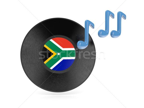 виниловых диск флаг ЮАР изолированный белый Сток-фото © MikhailMishchenko