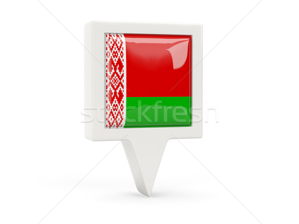 Square flag icon of belarus Stock photo © MikhailMishchenko
