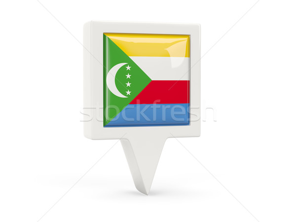 Square flag icon of comoros Stock photo © MikhailMishchenko
