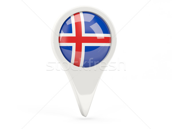 Round flag icon of iceland Stock photo © MikhailMishchenko