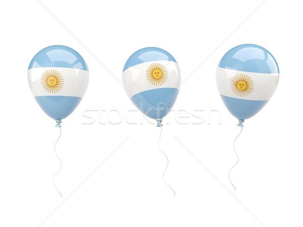 Air ballons pavillon Argentine isolé blanche Photo stock © MikhailMishchenko